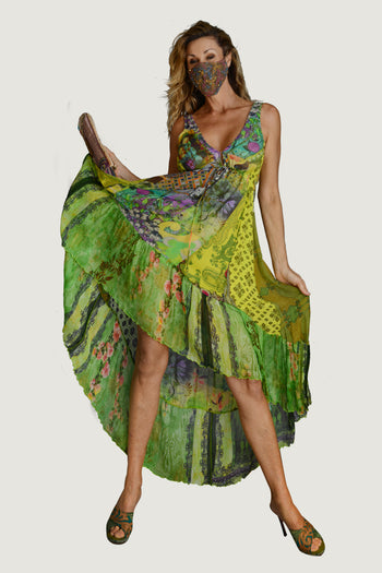 Kenya Forest - Georgette Digital Print Long Dress