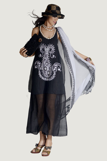 Anita - 100% Cotton With Intricate Beading and Embroidery
