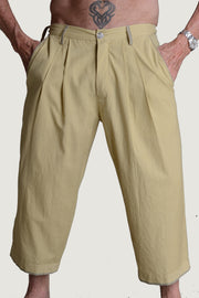 Kevin - Cotton Handloomed Cropped Men's Pants