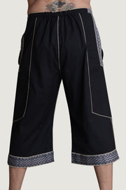 Eli - 100% Soft Cotton Drawstring Cropped Men's Pant