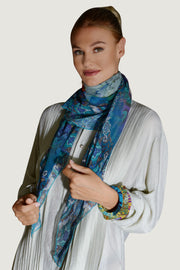 Ethnic Nature Chiffon Georgette Square Scarf