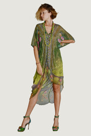 Annette Georgette Kaftan Dress -  Risen Hem