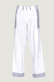 Albern - Mens Soft Cotton With Border Drawstring Pants- Full length