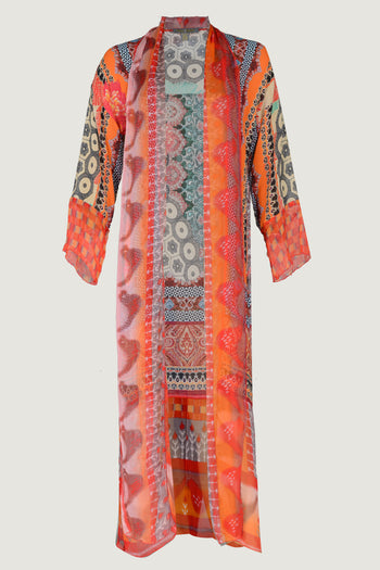 Jody Long Jacket - Georgette Chiffon Digital Print