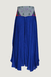 Berthilda Water - Viscose Bandhani Silk Cotton Dress Skirt