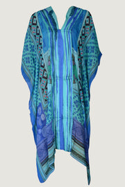 Edith - Georgette Digital Print Ruffle Poncho