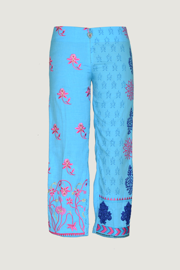 Susan - Cotton Print 3/4 Pants