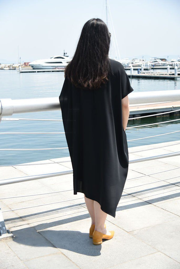 Asymmetrical Cape-Dress Dresses The Eight Senses®