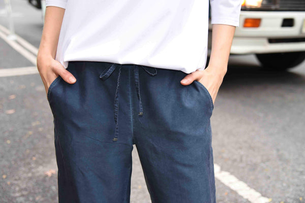 Dyed Cropped Pants Pants The Eight Senses® Dark Teal XS