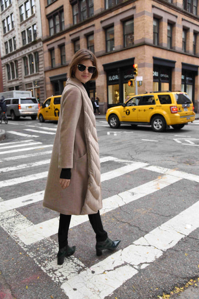 wool coat Soho shopping The Eight Senses