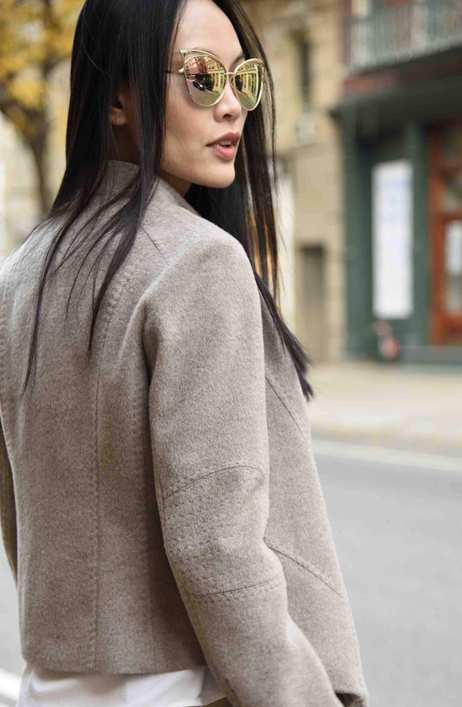 Wool Angora Biker Jacket by The Eight Senses