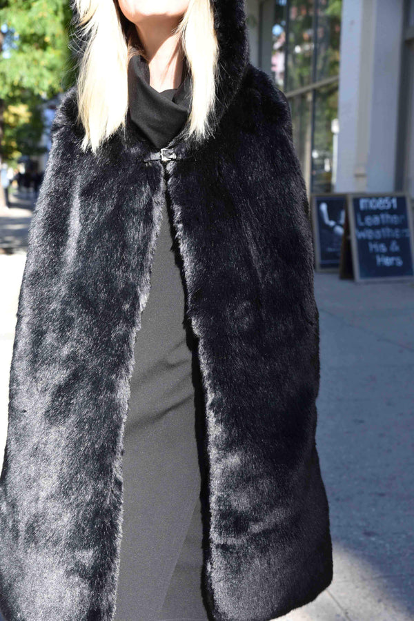 Hooded Fur Scarf Scarf The Eight Senses®