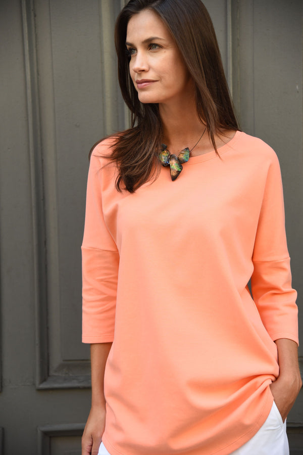 Dolman Tee Tops The Eight Senses® Peach S