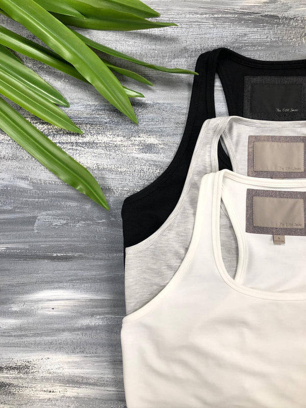 Grey Racer-Back Tank Tops The Eight Senses®