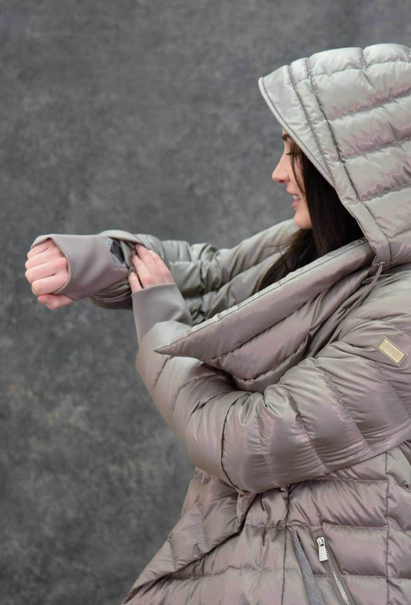 The New Puffer Blanket Coats The Eight Senses® Taupe XS