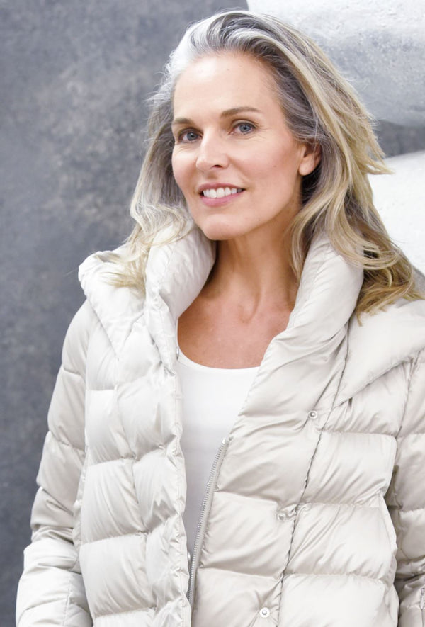 Elegant Puffer Coats The Eight Senses® Pearl XXS