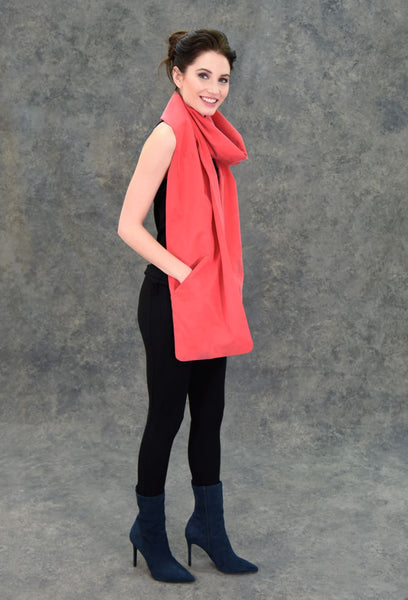Touch Scarf Accessories The Eight Senses® Red One Size