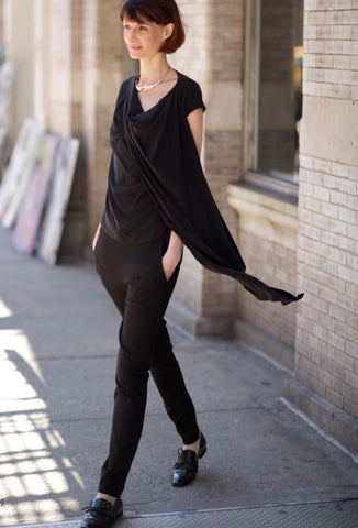 Drape & Go Top Tops The Eight Senses® Black XS