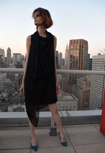 Drape & Go Dress With A Sheer Scarf Dresses The Eight Senses®