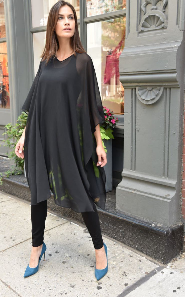 Crew or V Oversized Top by The Eight Senses