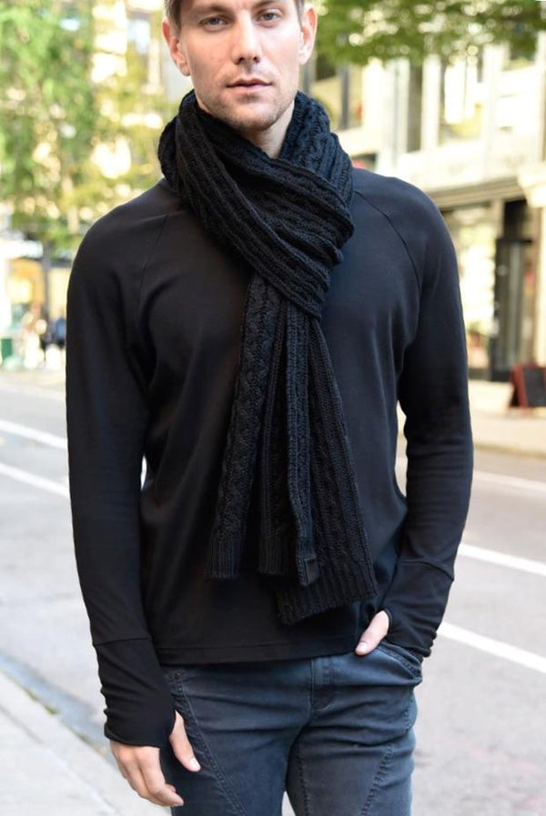 Sweater Scarf Scarf The Eight Senses® Black One Size