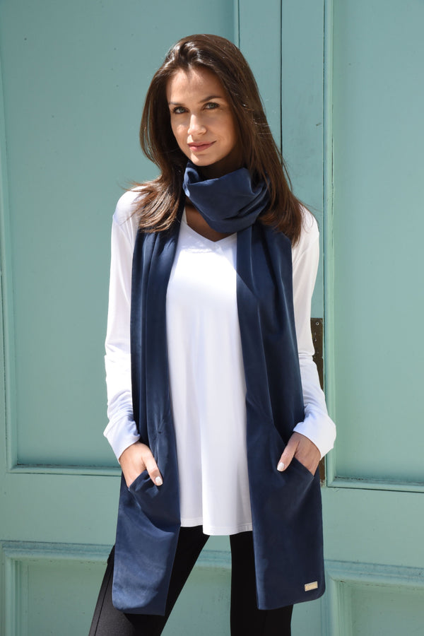 Touch Scarf Accessories The Eight Senses® Dark Indigo One Size