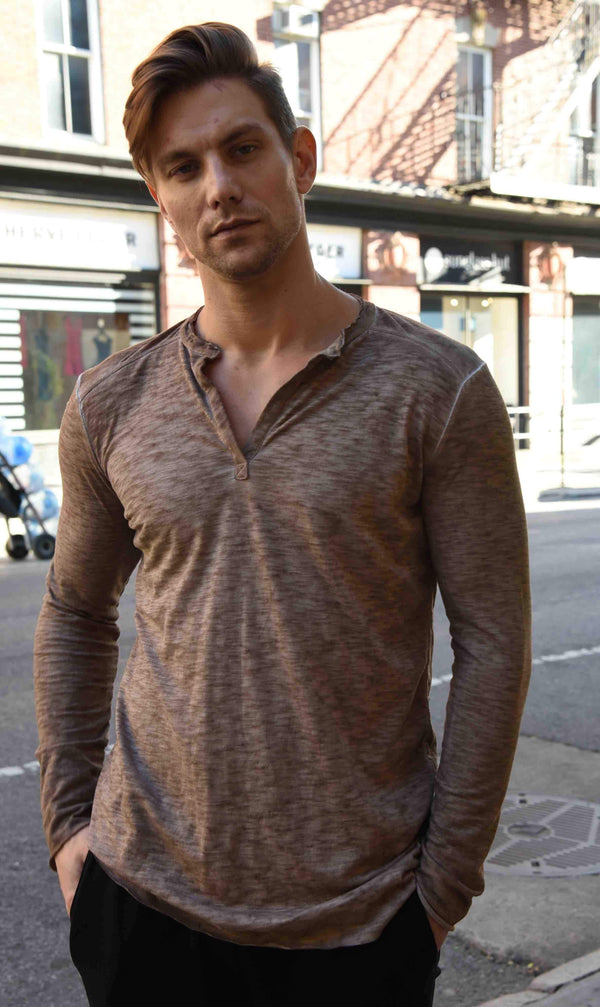 Henley Tops The Eight Senses® Sand S