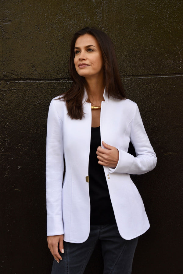 Casual Blazer - White Jackets The Eight Senses®