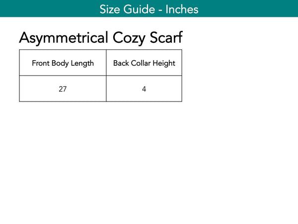 Asymmetrical Cozy Scarf Scarf The Eight Senses®