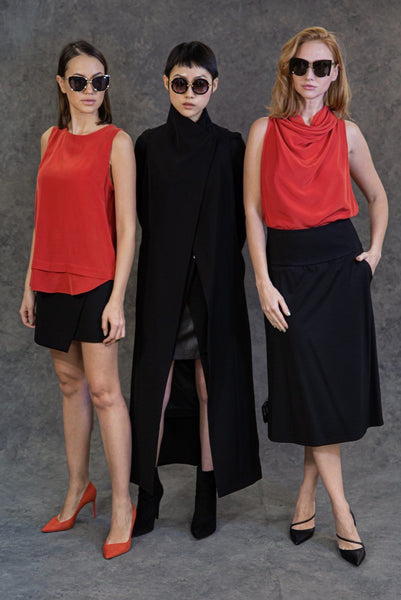Asymmetrical Skirt Skirts The Eight Senses®