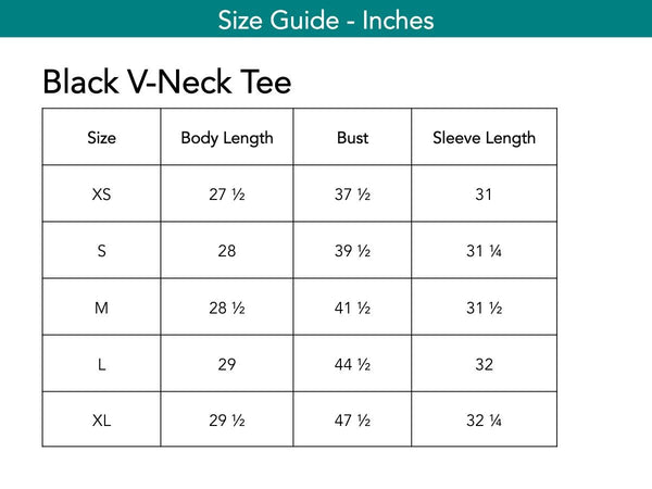 Black V-Neck Tee Tops The Eight Senses®