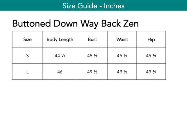 Buttoned Down Way Back Zen Tops The Eight Senses®