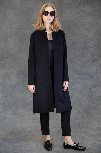 Cashmere Long Blazer Coats The Eight Senses®