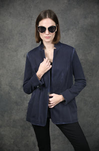 Casual Garment Dye Blazer Jackets The Eight Senses®