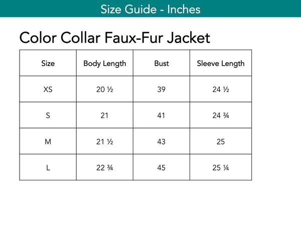 Color Collar Faux-Fur Jacket Jackets The Eight Senses®