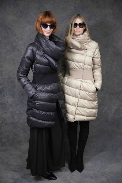 Contour-Hint Puffer Coats The Eight Senses®