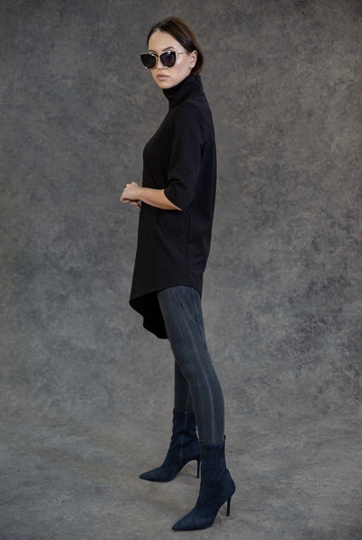 Diagonal Hem Tunic Tops The Eight Senses®
