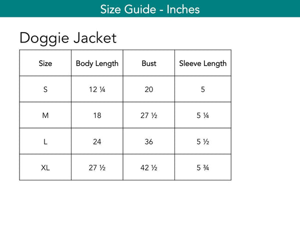 Doggie Jacket Dogwear The Eight Senses®