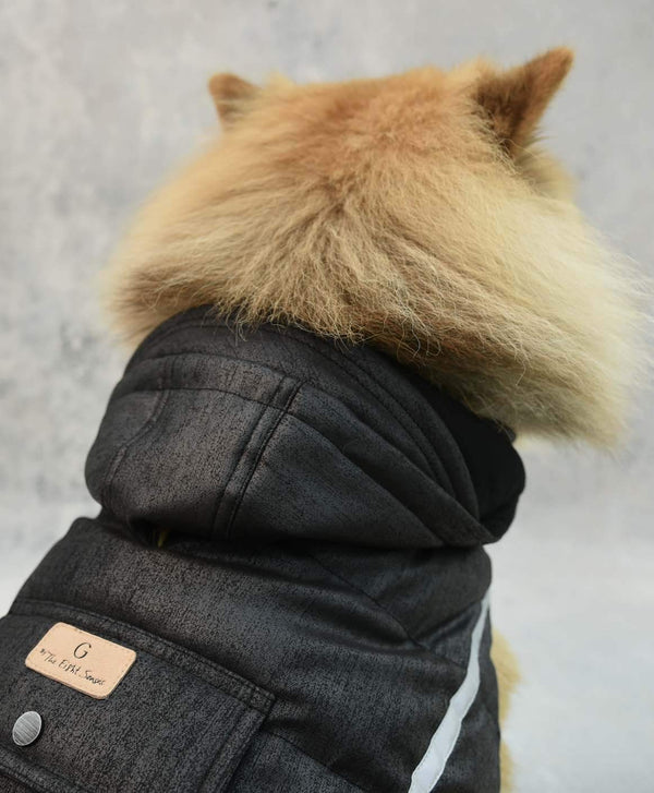 Doggie Puffer Dogwear The Eight Senses® Black XL