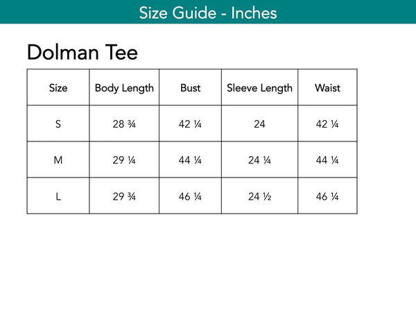 Dolman Tee Tops The Eight Senses®