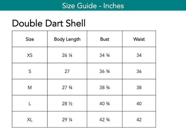 Double Dart Shell Tops The Eight Senses®