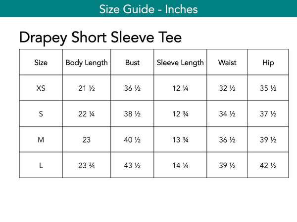 Drapey Short Sleeve Tee Tops The Eight Senses®