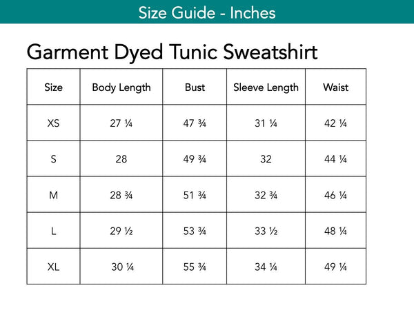 Garment Dyed Tunic Sweatshirt Tops The Eight Senses®