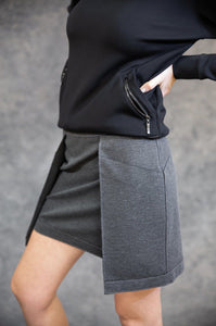 Grey Scuba Skirt Skirts The Eight Senses®