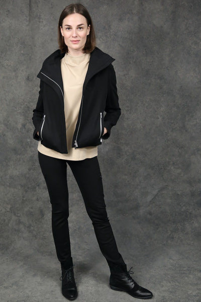 High Collar Short Jacket Jackets The Eight Senses®