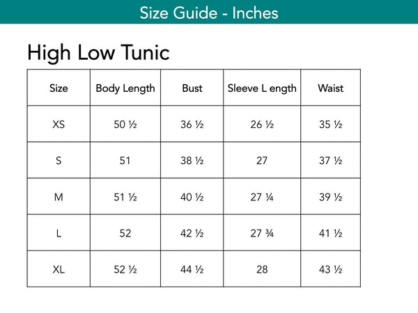 High Low Tunic Tops The Eight Senses®