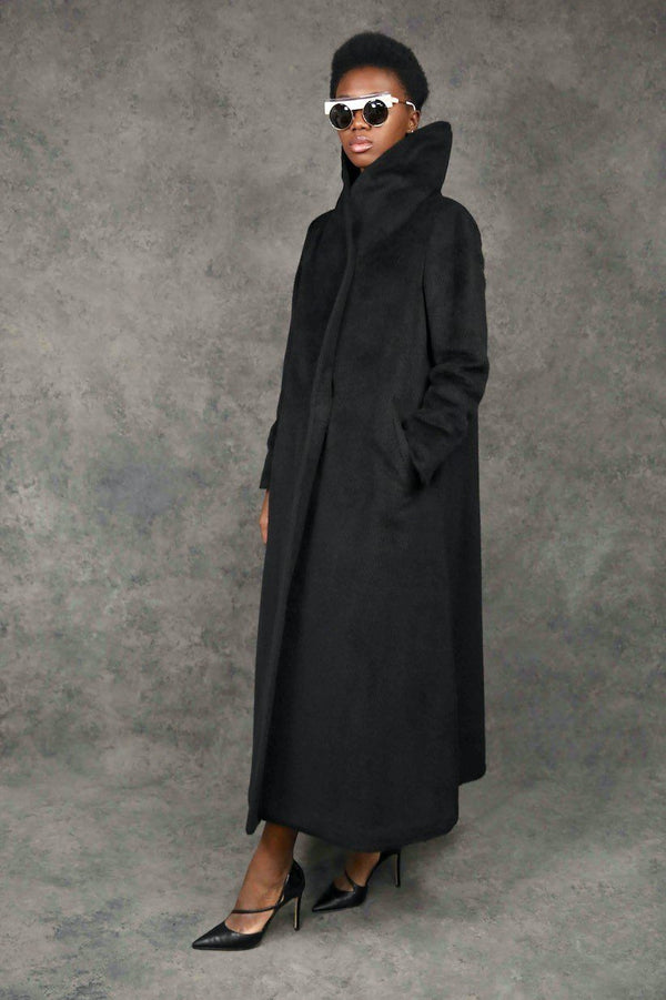 High Shawl Wool Coat Coats The Eight Senses®