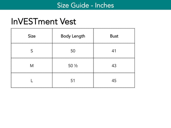 InVESTment Vest Vests The Eight Senses®