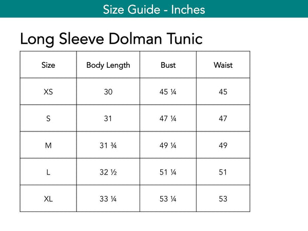 Long Sleeve Dolman Tunic Tops The Eight Senses®