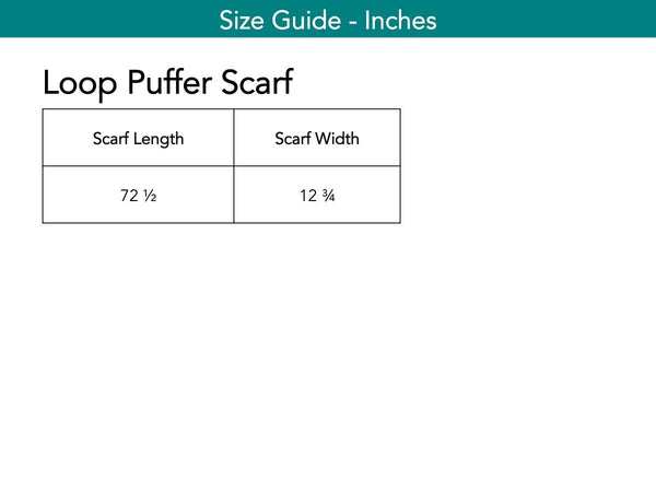 Loop Puffer Scarf Scarf The Eight Senses®